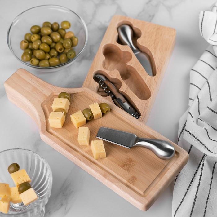 """Набор для сыра и вина """"Пекорино"""" с индивидуальной гравировкой"""