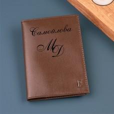 """Обложка для паспорта """"Corsica"""" с именной гравировкой"""
