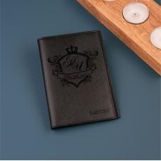 """Обложка для паспорта """"Bermuda"""" с именной гравировкой"""