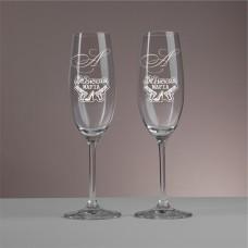 """Пара бокалов для шампанского """"Ivory"""" с индивидуальной гравировкой"""