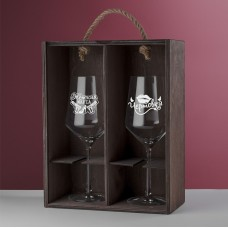 """Подарочный набор бокалов для вина """"Evento"""" с гравировкой"""