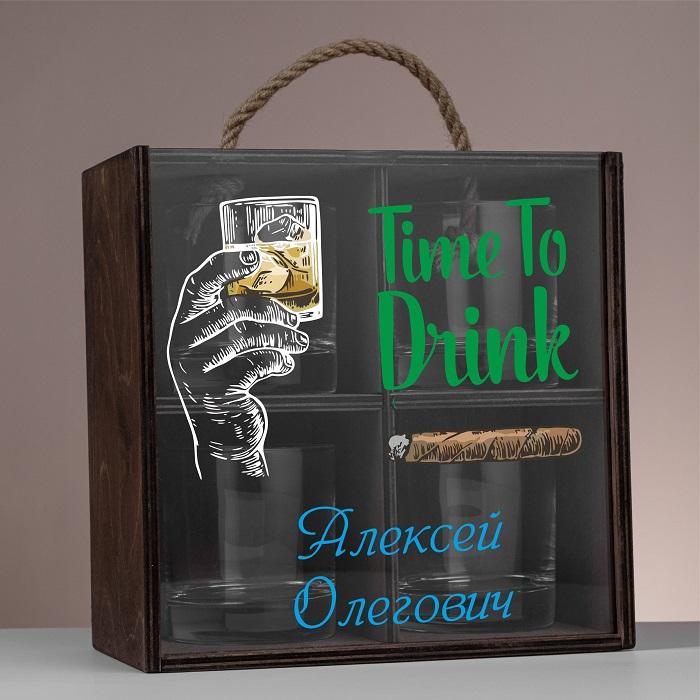 """Набор стаканов для виски """"Manly"""" с персональной гравировкой"""