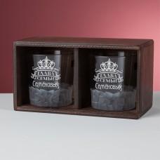 """Набор стаканов для виски в деревянном пенале """"Grant"""" с персональной гравировкой"""