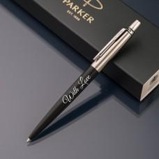 Шариковая ручка Parker Jotter с именной гравировкой, цвет черный