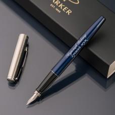 Перьевая ручка Parker Jotter с именной гравировкой, цвет синий
