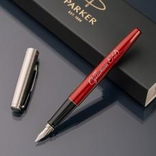 Перьевая ручка Parker Jotter с именной гравировкой, цвет красный