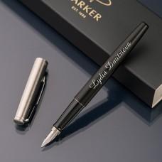 Ручка перьевая Parker Jotter с именной гравировкой, цвет черный