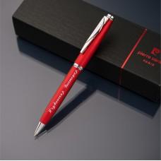 Шариковая ручка Pierre Cardin с гравировкой, цвет красный