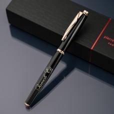 Ручка-роллер Pierre Cardin с гравировкой, цвет чёрный/золото