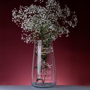 Стеклянная ваза с персональной гравировкой