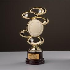 """Награда """"Эллипс"""" на деревянном постаменте с гравировкой"""